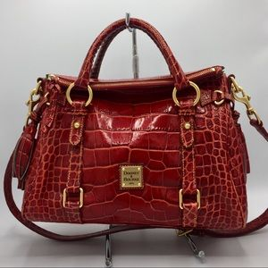 Dooney & Bourke Florentine Croc Emboss Leather Bag